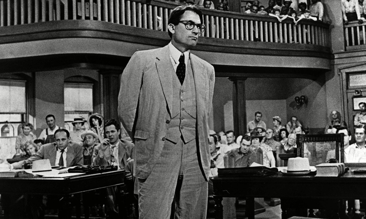 <p>Gregory Peck as Atticus Finch in To Kill A Mockingbird. <em>Photo by Rexfeatures</em></p>