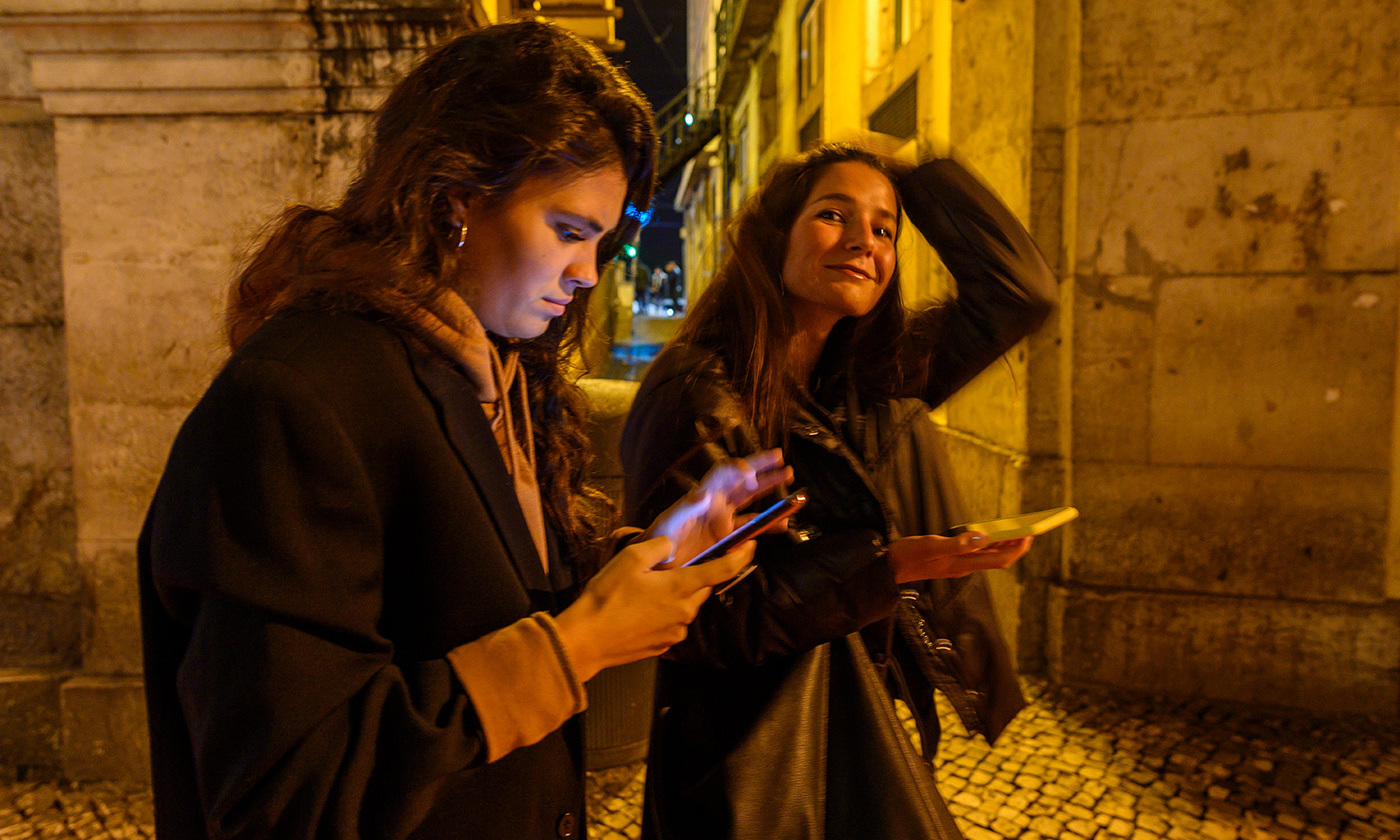 <p>Phubbing you or just figital? <em>Photo by Horacio Villalobos/Getty</em></p>