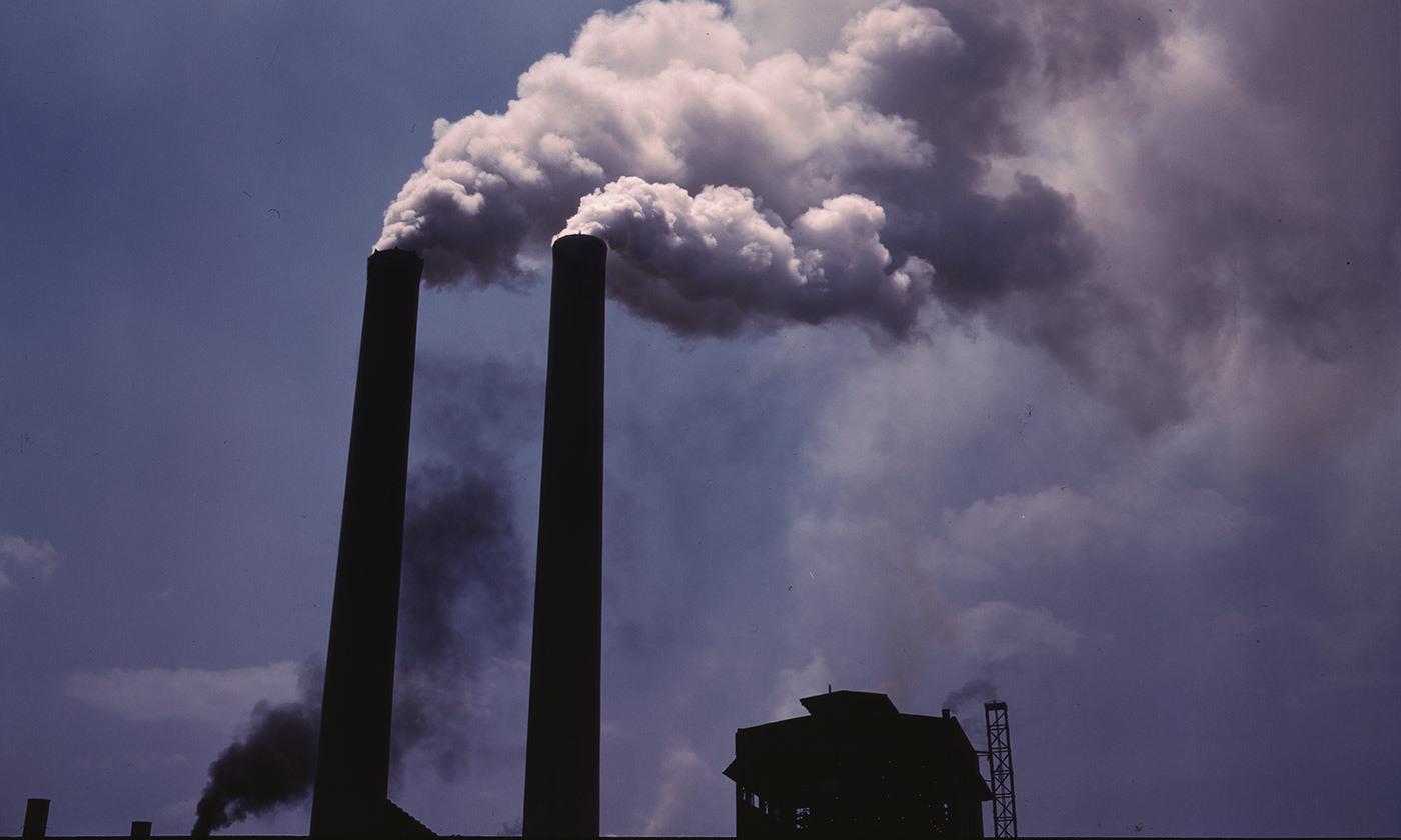 <p>'Smoke stacks' (1942), Alfred T Palmer. <em>Courtesy the Library of Congress</em></p>