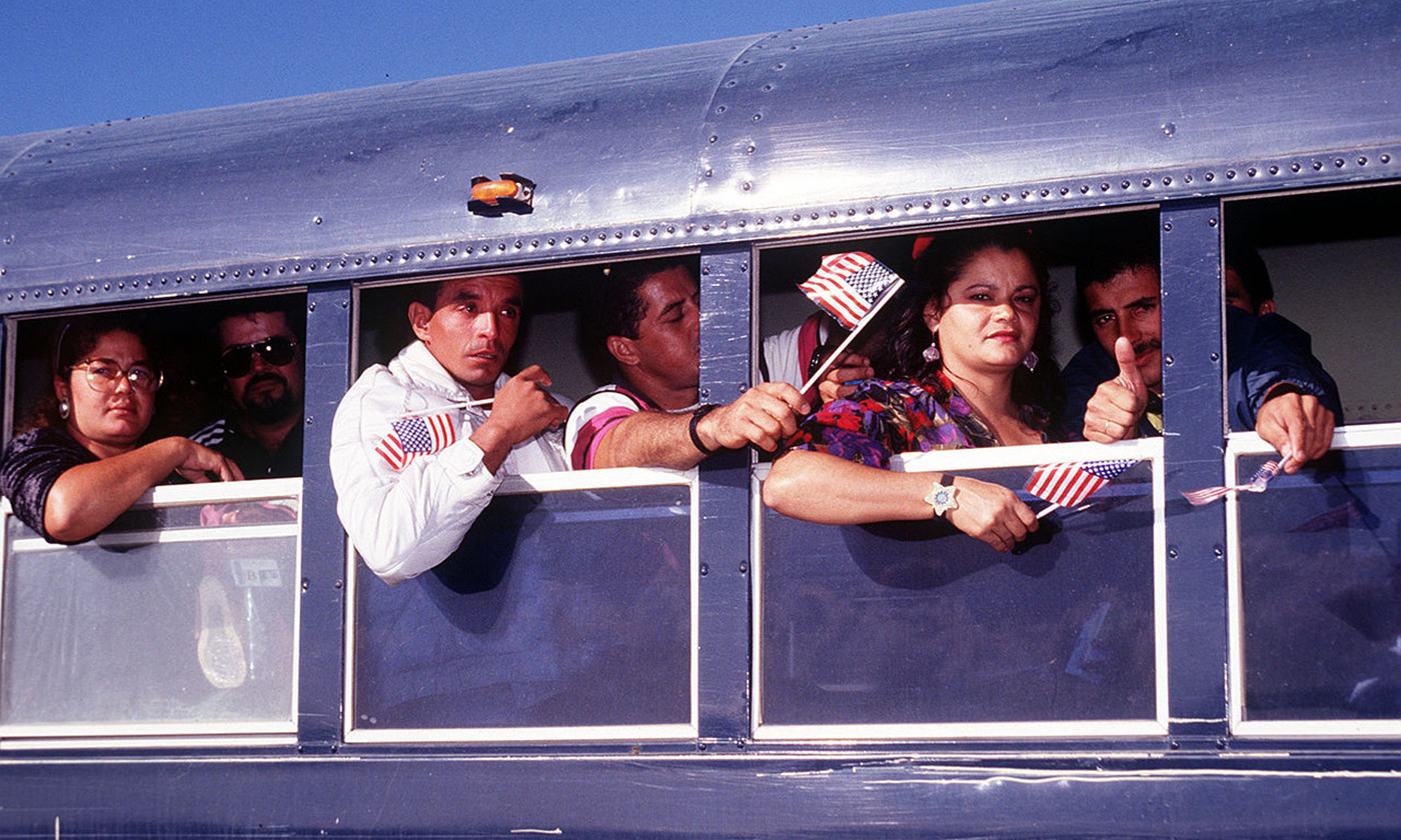 Cuban refugees granted asylum in the USA in September 1996. <em>Photo courtesy Wikipedia</em>