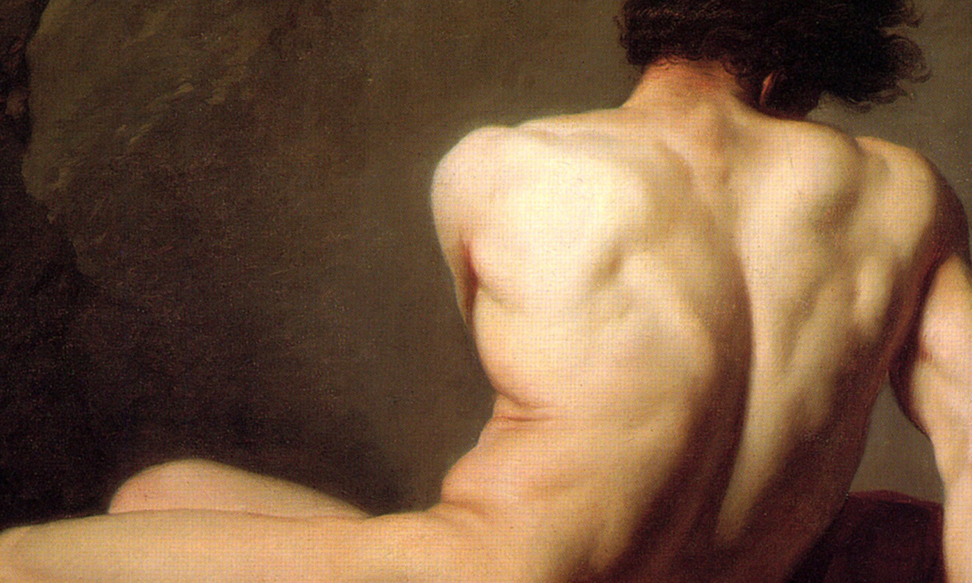Detail from <em>Patroclus</em> by Jacques Louis David, 1780. <em>Courtesy Wikipedia</em>