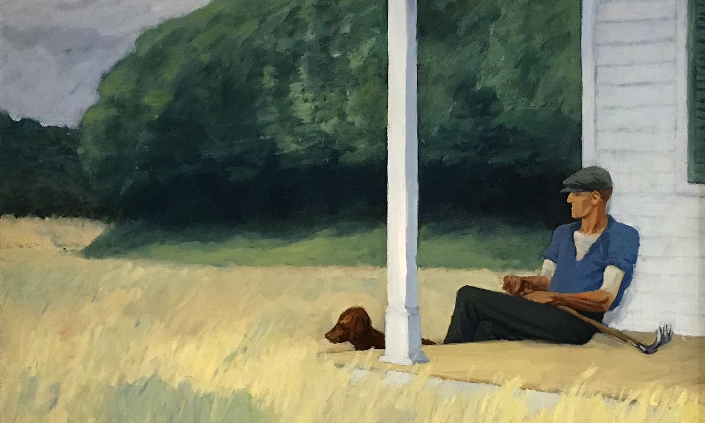 <em>Clamdigger</em> 1935 by Edward Hopper. <em>Courtesy Sharon Mollerus/Flickr</em>
