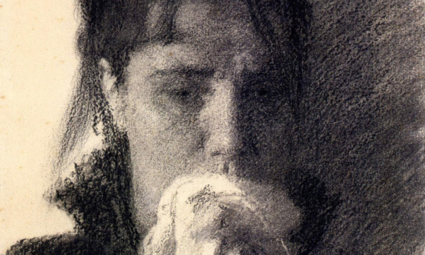 <p>Detail from study for the painting <em>Inconsolable Grief </em>(1884), by Ivan Kramskoi. <em>Courtesy the National Museum, Kiev</em></p>