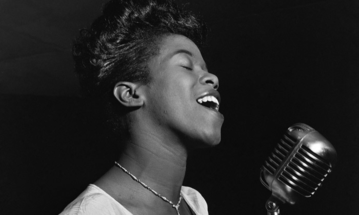 Sarah Vaughan by William P Gottlieb. <em>Courtesy Wikipedia</em>