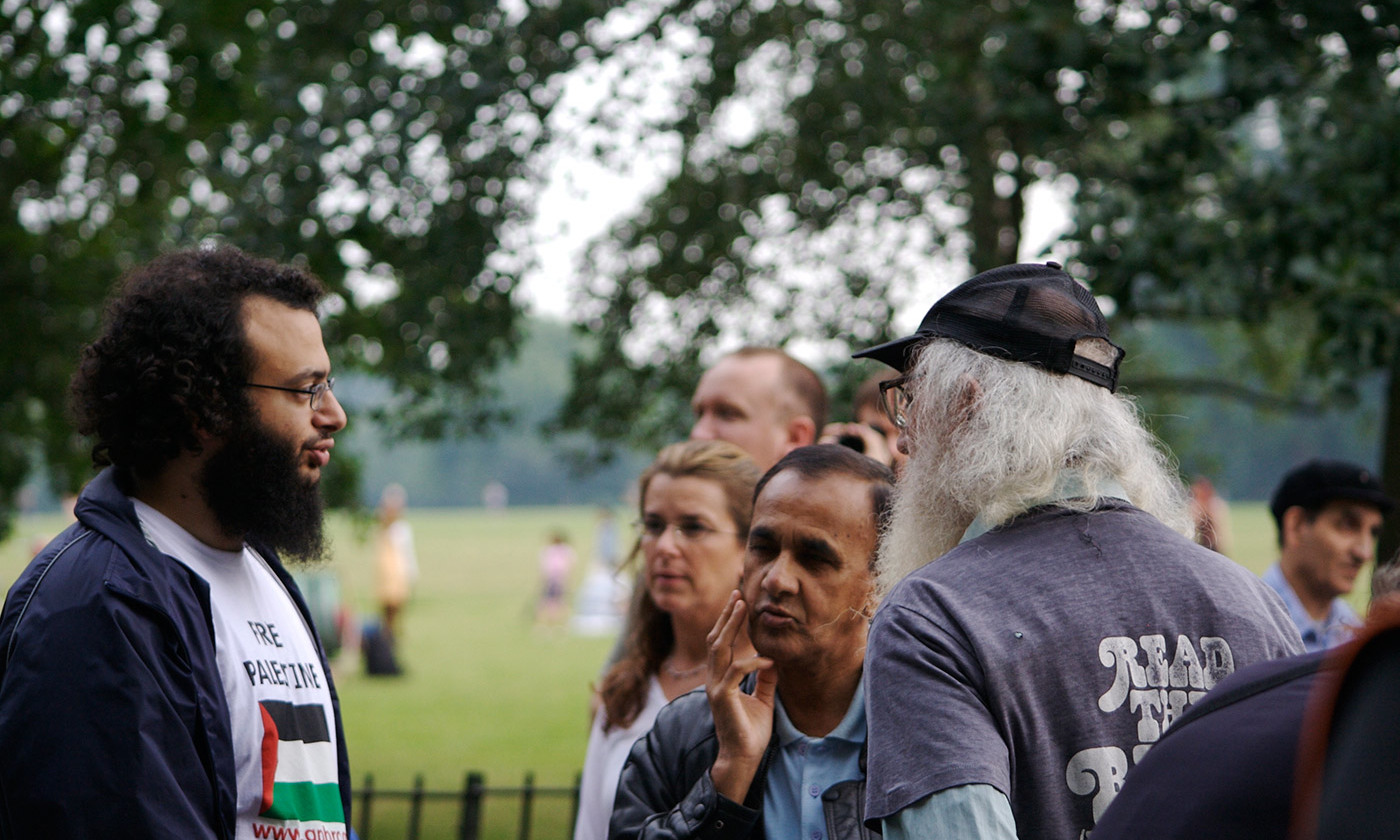 Speakers' Corner, Hyde Park, London. <em>Photo by Adam Hopkinson/Flickr</em>