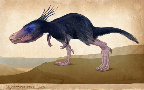 Card sized feathered trex
