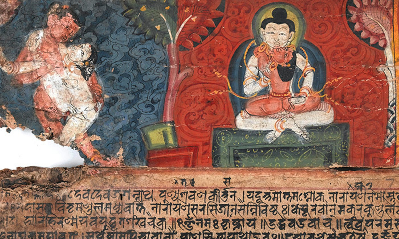 <p>Detail from a Nepalese Kama Sutra manuscript.<em> Photo courtesy the Wellcome Collection</em></p>