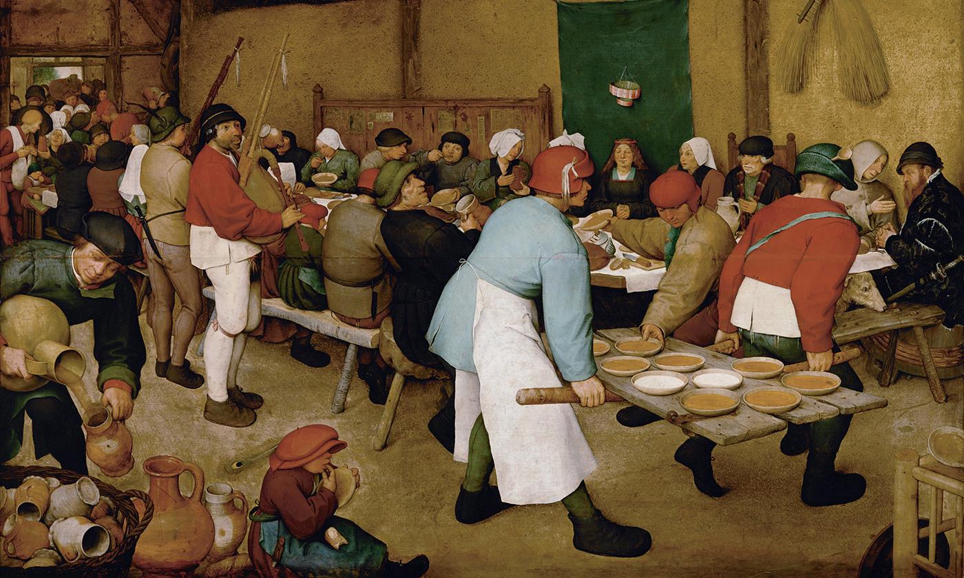 <em>Peasant Wedding</em>, 1567, by Pieter Bruegel the Elder. Kunsthistorisches Museum, Vienna/Wikimedia