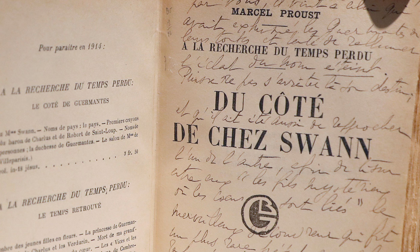 The subtleties; an orginal edition of Swann's Way from the personal archives of Marcel Proust. <em>Photo by Getty</em>