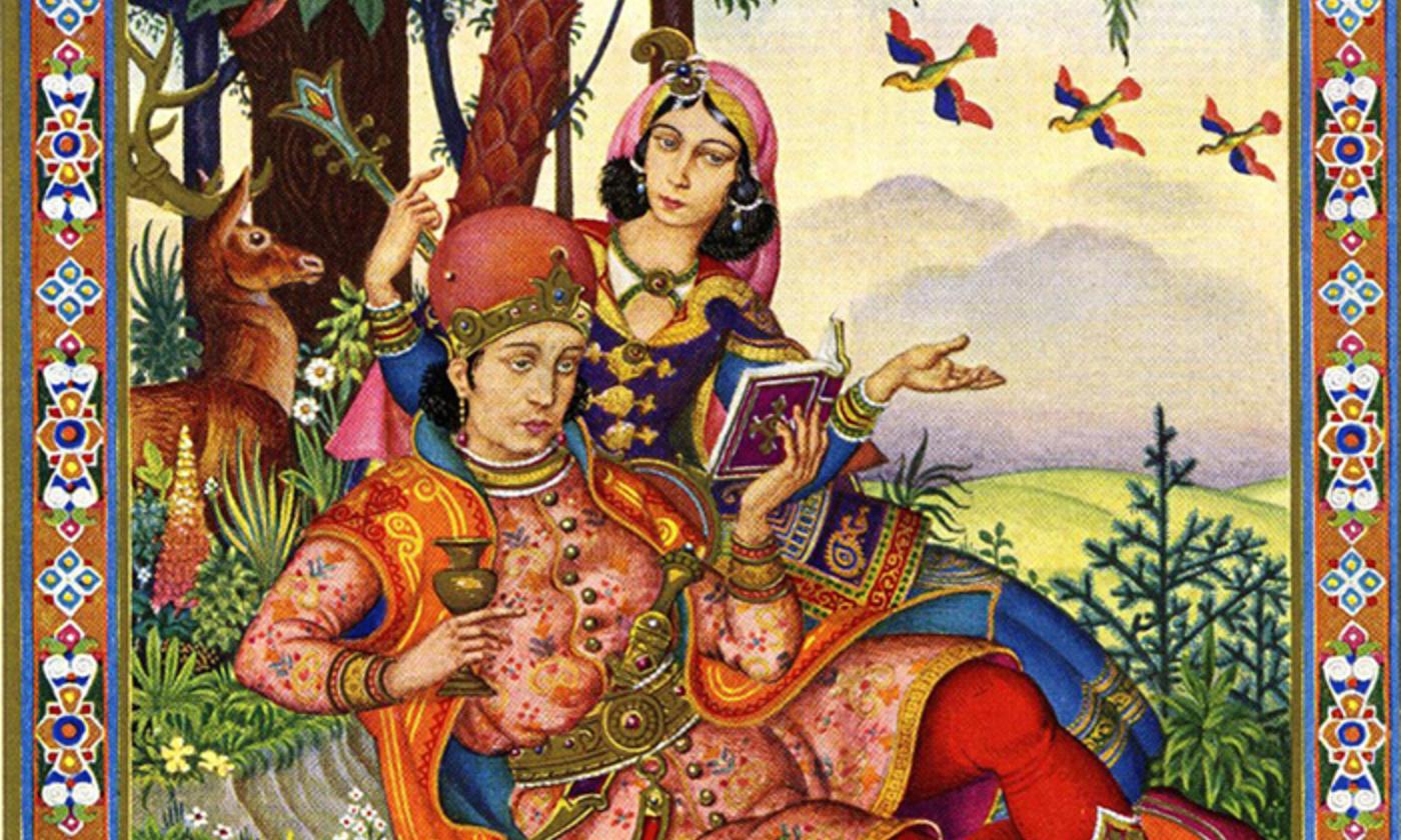 From <em>The Rubáiyát of Omar Khayyám</em> (1940) illustrated by Arthur Szyk. <em>Courtesy Wikipedia</em>