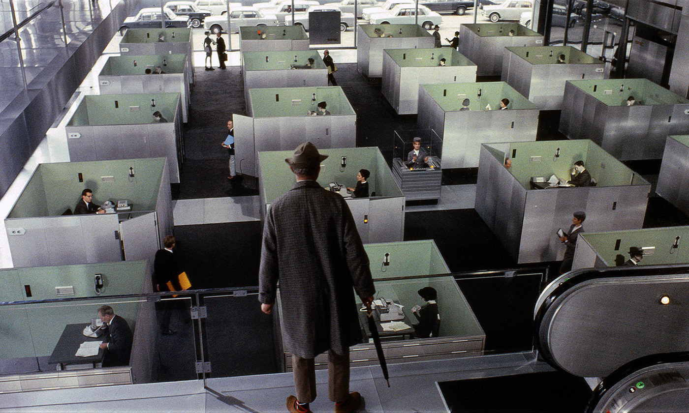 <p>From Jacques Tati's <em>Playtime</em> (1967). <em>Image courtesy Les Films de Mon Oncle – Specta Films CEPEC</em></p>