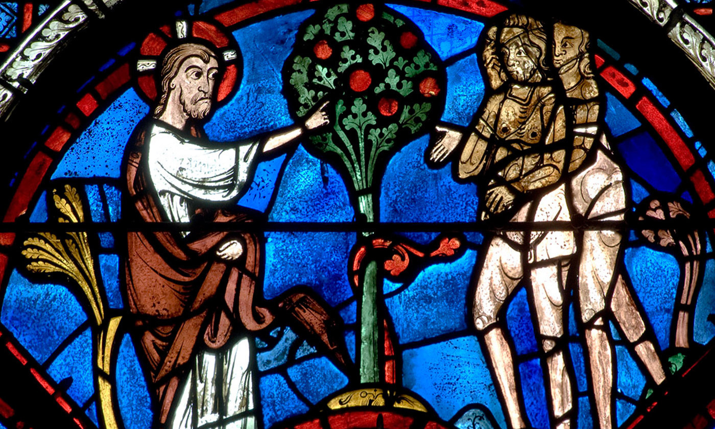 <p>Detail from the Good Samaritan window in Chartres Cathedral. <em>Photo courtesy Wikipedia</em></p>