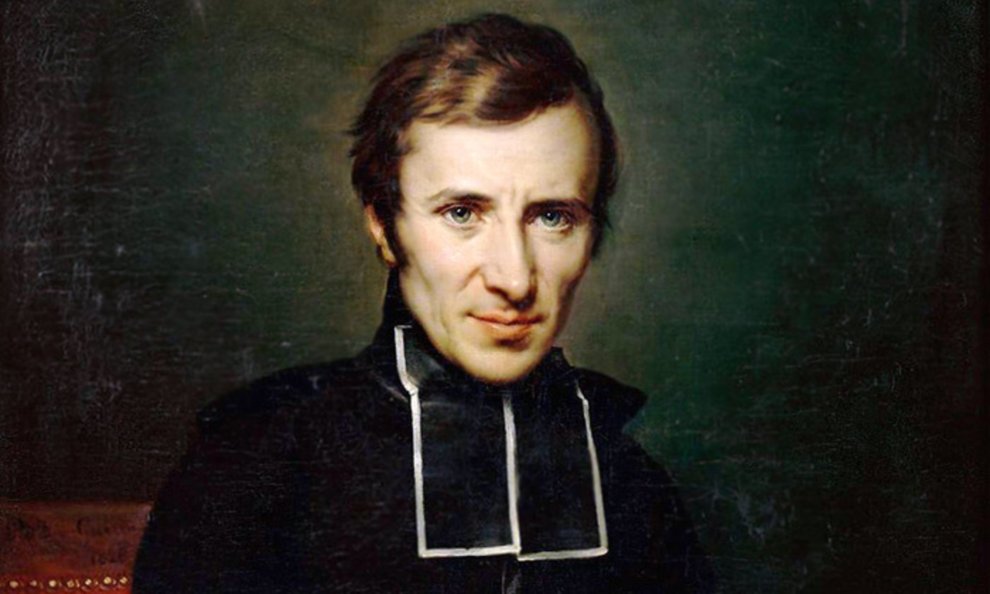 <p>Detail from a portrait of Hugues Felicité Robert de Lamennais (1827) by Ary Scheffer. <em>Courtesy Wikipedia</em></p>
