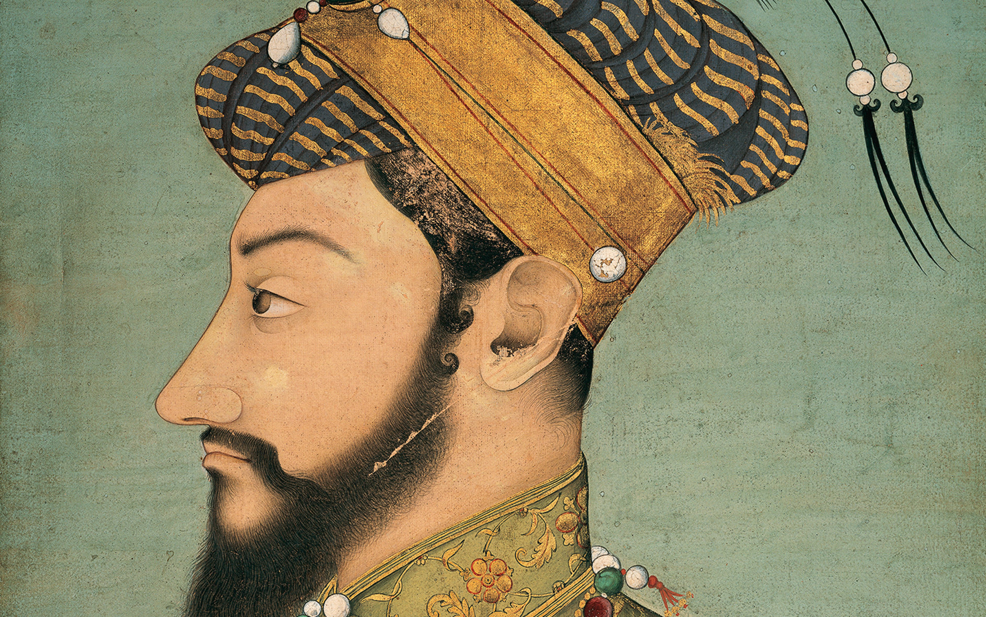 Resultado de imagem para Prince Aurangzeb, 1653-1655, gouache with gold on paper. Image © Ashmolean Museum, University of Oxford