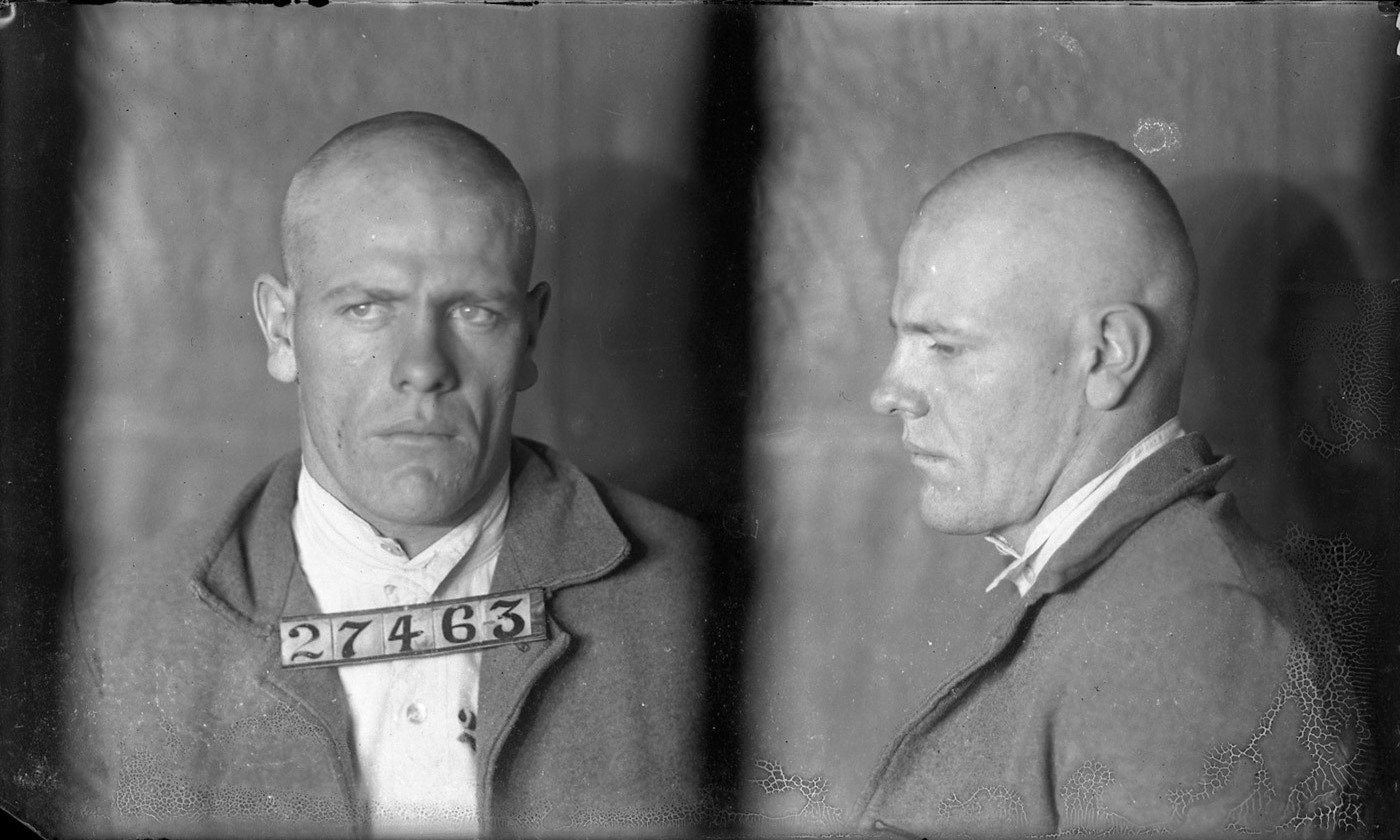 <p>Arthur Defenbaugh, inmate #27463 photographed in 1924. <em>Courtesy Missouri State Archives</em></p>