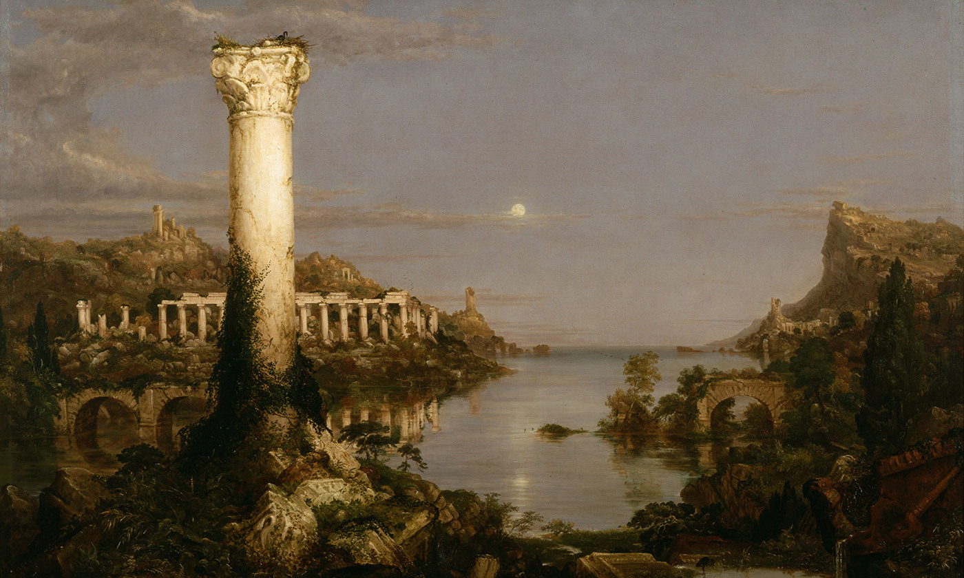 Thomas Cole's <em>The Course of Empire: Desolation</em>, 1836. <em>Courtesy New York Historical Society/Wikipedia</em>