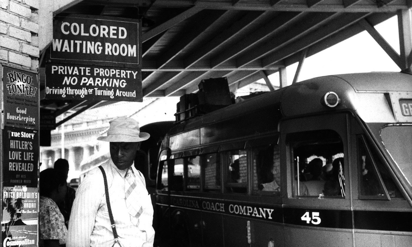 'At the bus station in Durham, North Carolina.' May 1940. <em>Photo by Jack Delano/FSA/Library of Congress</em>.