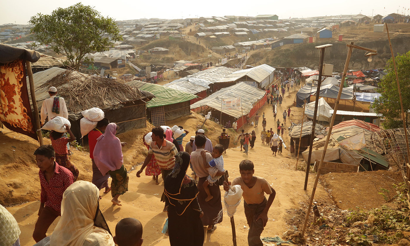 Kutupalong refugee camp, near Cox's Bazar, Bangladesh. The Rohingya people, fleeing violence, have been arriving here since 25 August 2017. <em>Photo by DFID/Flickr</em>