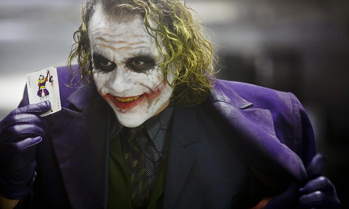 <p>Heath Ledger as The Joker in the <em>Dark Knight </em>(2008). <em>Courtesy Warner Pictures/DC Comics</em></p>