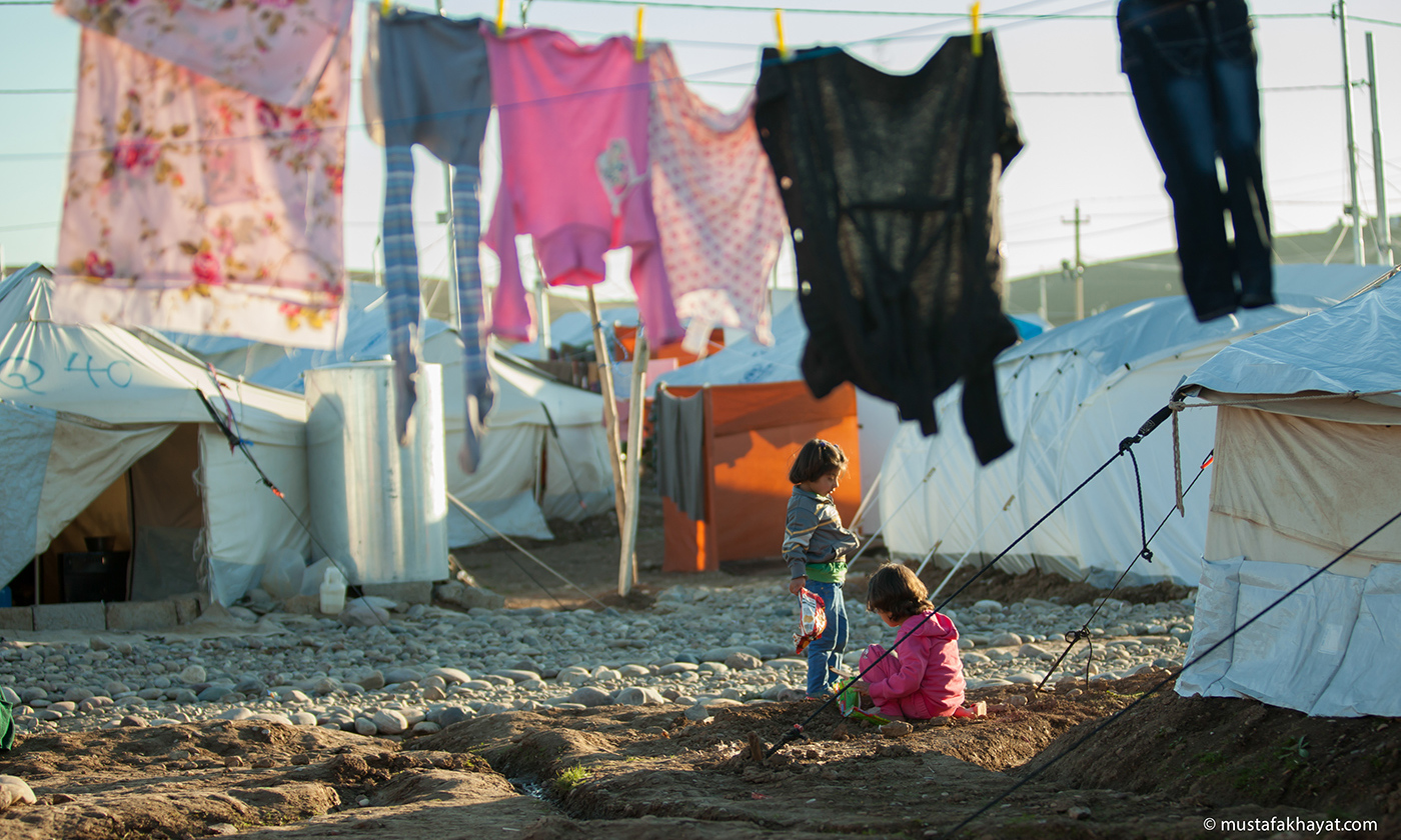A Syrian refugee camp near Erbil. <em>Photo by Mustafa Khayat/Flickr</em>