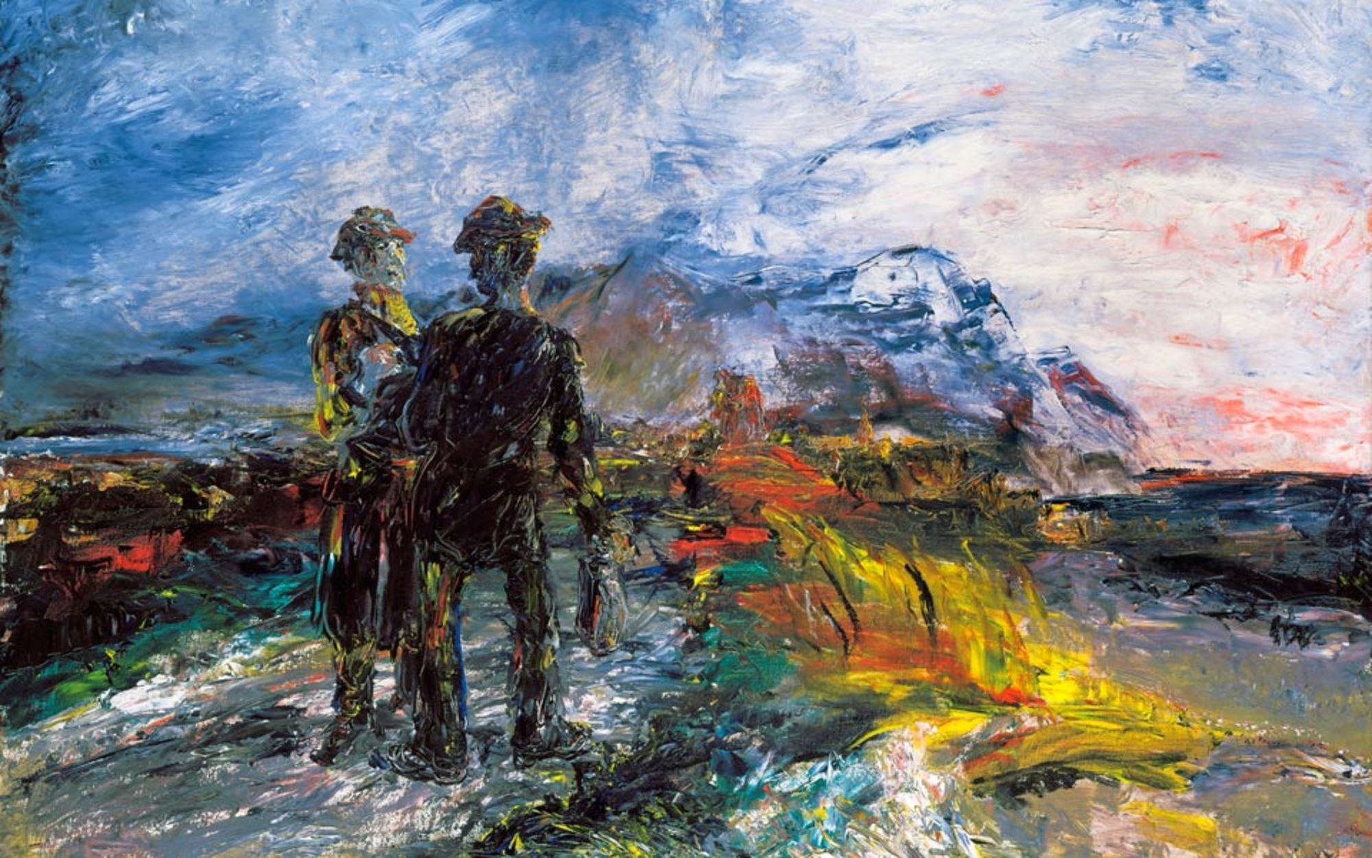 Header two travellers by jack yeats