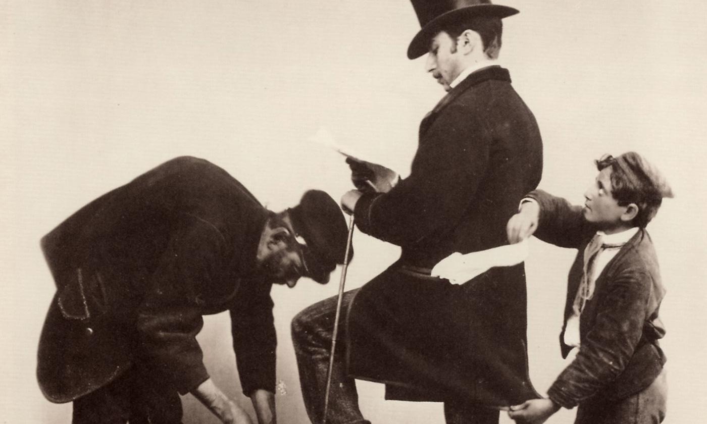 <em>Shoe Shiner with Pickpocket</em> by Giorgio Sommer, Naples (1834-1914). <em>Courtesy Wikimedia</em>