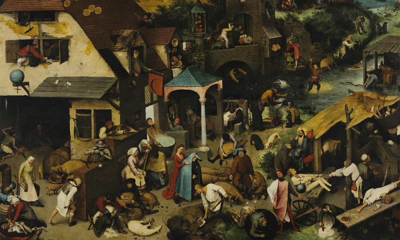<p>A messy life. Detail from <em>The Netherlandish Proverbs</em> (1559) by Pieter Bruegel the Elder. <em>Image courtesy Gemäldegalerie, Berlin</em></p>