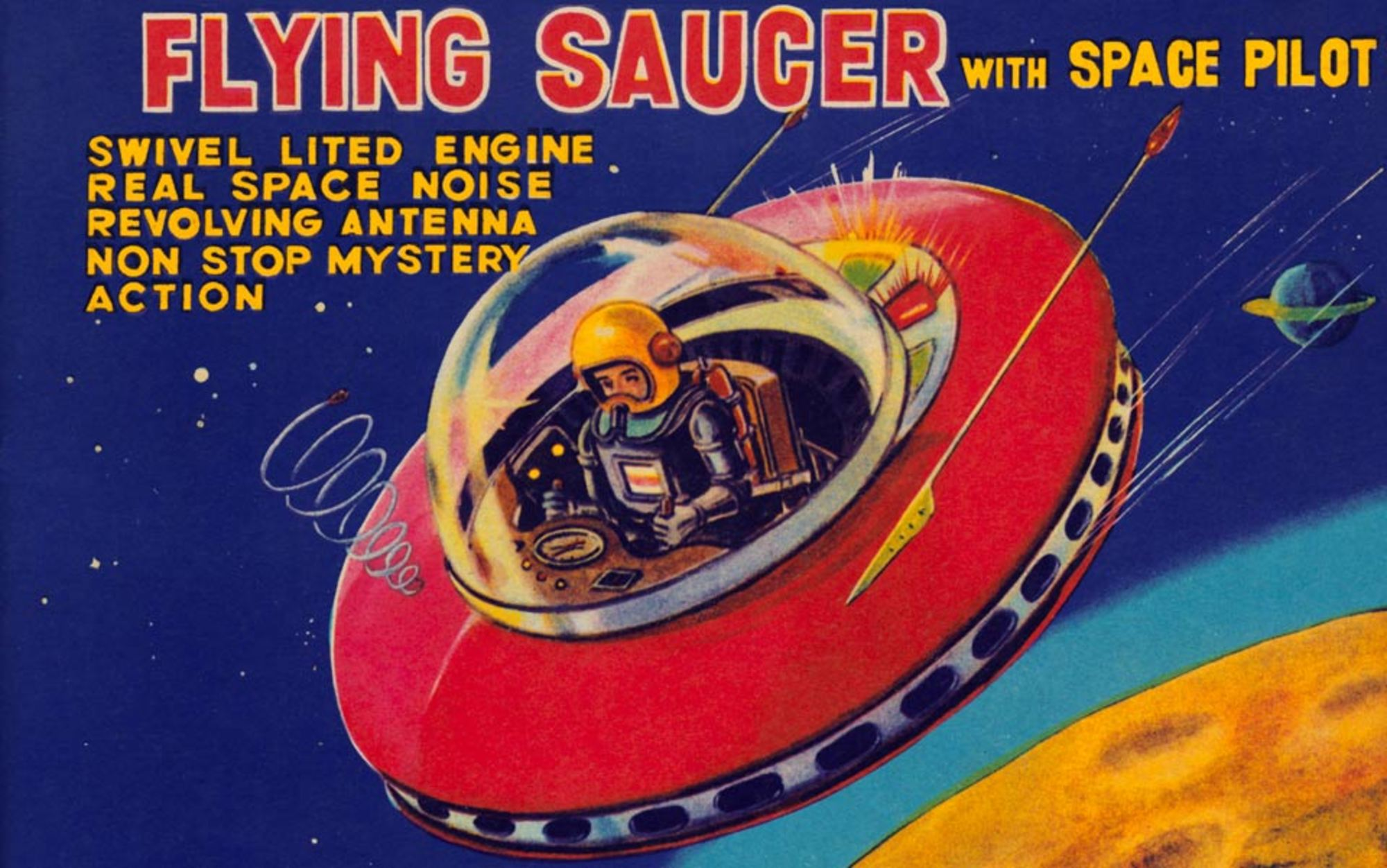 Header flying saucer toy