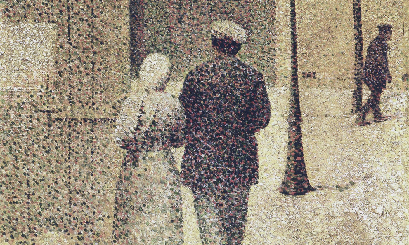 <p><em>The Couple in the Street </em>(1887) by Charles Angrand. <em>Courtesy Musée d'Orsay/Wikipedia</em></p>