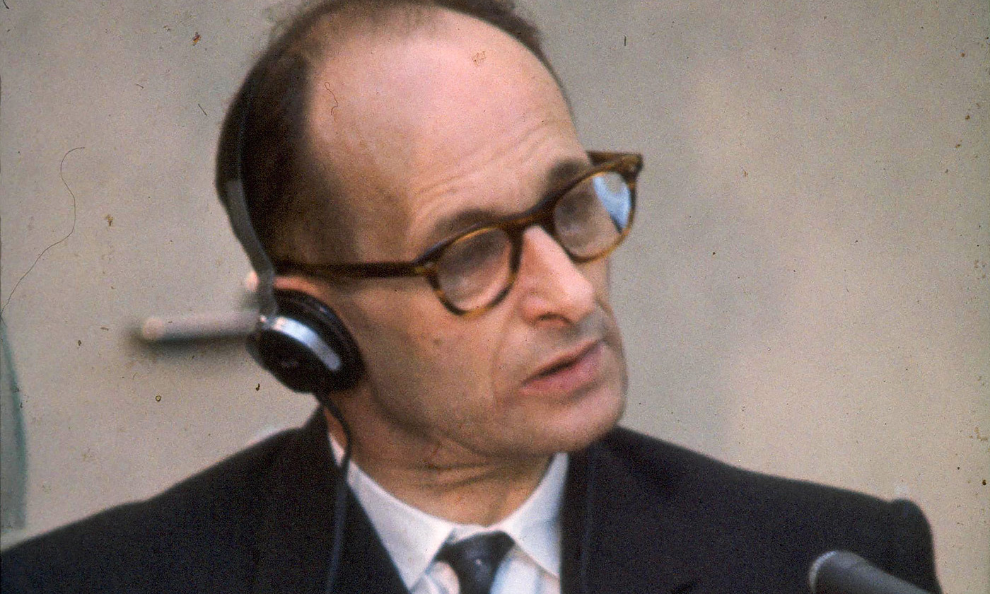 <p>Adolf Eichmann at his 1961 trial. <em>Photo courtesy Wikipedia</em></p>